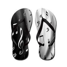 Music Note Flip Flops