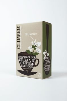 Lakritsitee 3,33 e Clipper Tea, Used Tea Bags, Waste Container, Tea Packaging, Packaging Ideas, Herbalism, Organic, Pure Products, Mat