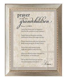 Look what I found on #zulily! Silver Embossed 'Prayer for Grandchildren' Frame #zulilyfinds