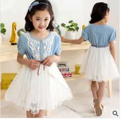 http://babyclothes.fashiongarments.biz/  2015 new summer style girls denim jeans stitching net yarn dress tutu dress Puff cowboy veil dress free shipping, http://babyclothes.fashiongarments.biz/products/2015-new-summer-style-girls-denim-jeans-stitching-net-yarn-dress-tutu-dress-puff-cowboy-veil-dress-free-shipping/, Pattern:Flowers  Picture real shot:Photos models  Whether the stock:It is  Element:Princess, lace, mesh, lace  Flatcar 12 to 14 gauge needle / 3cm:It is  Main fabric…