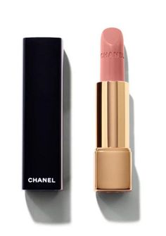 Chanel Rouge Allure Intense Long-Wear Lip Colour in Pensive | A creamy full-cover lip color with a satin finish, this luxurious lipstick is a gorgeous shade of nude pink.