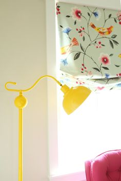 A pretty nursery with bright and cheerful colors, via @Kirsten Krason