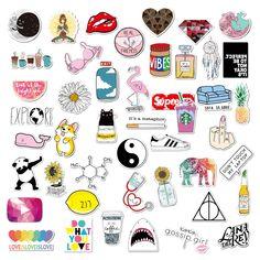 VSCO Girls Aesthetic Light Stickers for Bottle Phone Case Laptop Tumbler 46 PCs - Kostenlos Vsco, Cute Laptop Stickers, Phone Stickers, Bullet Stickers, Funny Stickers, Diy Stickers, Aesthetic Light, Music Aesthetic, Travel Aesthetic