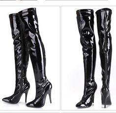 82bc0a879644b6 Mehr-Stil Lackleder Damenschuhe 35-44 Sexy Nachtclub High Heels Overknee  Stiefel · Stiefel KaufenSchuhe ...