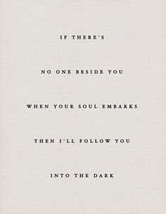 """I Will Follow You Into the Dark,"" Death Cab for Cutie"