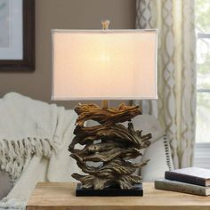 Stacked Driftwood Table Lamp | Kirklands