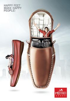 Metro Shoes: Shoe Drive (Driving Shoes)   Ads of the World™