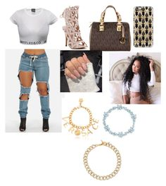 """Going to with my bae"" by bryebear ❤ liked on Polyvore featuring MICHAEL Michael Kors, Casetify, Versace, Tiffany & Co. and Michael Kors"