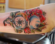 Compass & Rose Tattoo