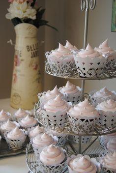 Pretty cupcakes...by Bri at Paul's bakery  #bridal shower #cupcakes #wedding