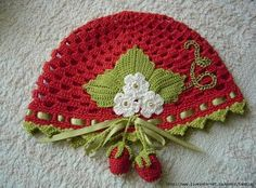 strawberry hat - for my niece in March.