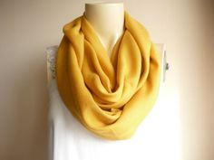 Mustard Infinity Scarf/Circle Scarf /Loop Scarf/ Tube Scarf (17.00 USD) by dreamhouse1
