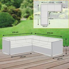 Gartenmöbel Schutzhülle / Abdeckung L Form   Premium XL (270 X 270 X 80