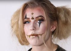 Specialist Hair & Media Make-up student, Nicole Taylor uses her skills to create a clown look for Halloween
