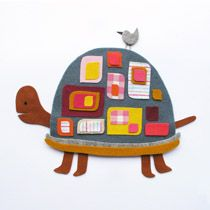 Cute fabric collage