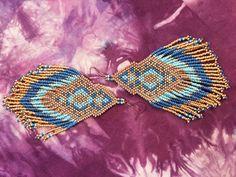 Beaded Fringe Earrings by TexleyDesignCo on Etsy