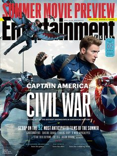 Face Off in 'Captain America' Covers!: Photo Chris Evans and Robert Downey, Jr. face off as Captain America and Iron Man in thees Captain America: Civil War Entertainment Weekly covers. The four separate… Captain America Civil War, Chris Evans Captain America, Age Of Ultron, Entertainment Weekly, Marvel Entertainment, Dc Movies, Marvel Movies, 2016 Movies, Movie Characters