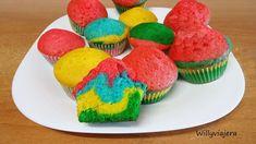 Magdalenas Arcoiris, Receta Petitchef Tapas, Muffins, Breakfast, Desserts, Food, Squash Muffins, Cupcake Recipes, Custard, Afternoon Snacks