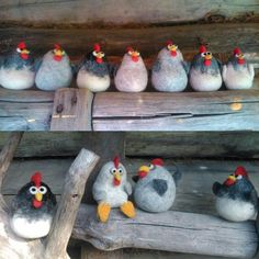 Roosting chickens.