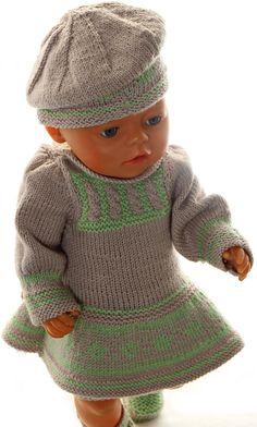 puppenkleider stricken strickanleitung - Ein schönes Ensemble mit einer tollen Mütze