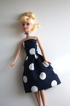Vestido elegante para Barbie. Tutorial