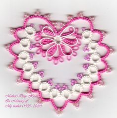 Tat-a-Renda: Mother's Day Heart, with pattern and chart