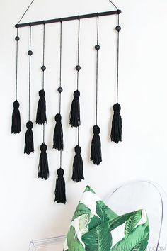 Modern Tassel Wall Hanging DIY