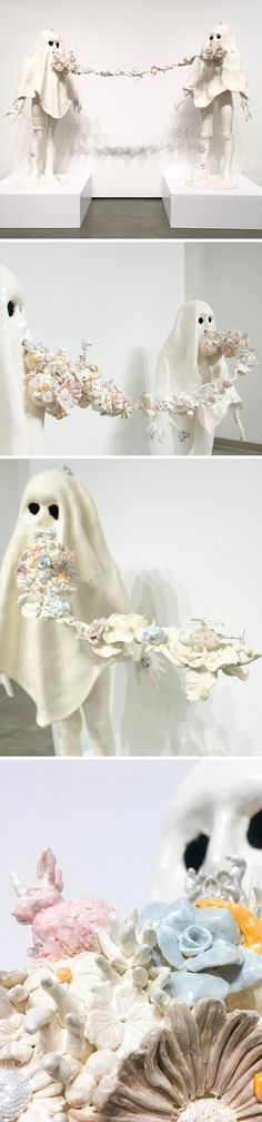 ceramic ghosts <3 sculpture by susannah montague (on the podcast)