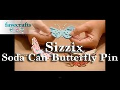 Soda Can Butterfly Pin | FaveCrafts.com