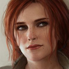 Ástor Alexander - A realistic painting of Triss Merigold, from The Witcher 3 The Witcher Books, The Witcher Game, The Witcher Wild Hunt, Witcher Art, Realistic Paintings, Realistic Drawings, Triss Merigold Witcher 3, Ciri, Triss Cosplay