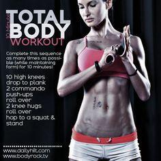 Summer Body Workout 4: 10 Minute Total Body Bonus Workout