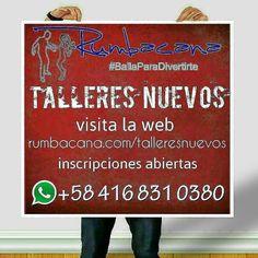 Talleres nuevos #2017 Visita la web http://ift.tt/2jbz8vO Inscripciones abiertas Reiniciamos Clases #Rumbacana #BailaParaDivertirte Invita un #amigo o #amiga al #SanoVicioDeBailar #academia #baile #workshop #dance #bachata #kizomba #merengue #salsa #salsacasino #salsaenlinea