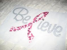 Diy Believe in Clear Bling with the L in Pink Faux by cthorses66, $7.99