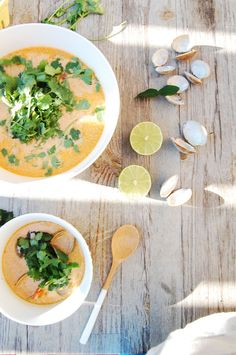 Clam Recipes, Soup Recipes, Cooking Recipes, Vegan Milk, Vegan Vegetarian, Healthy Thai Recipes, Chowder Recipe, Clam Chowder