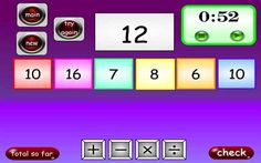 Test your mental maths agility and skills on this Countdown game. It works well on an interactive whiteboard too so it can be used in a class situation. Subtraction Games, Addition And Subtraction, Math Games, Games To Play, Multiplication, Mental Maths, Interactive Whiteboard, Game 7