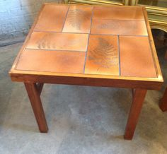 Mid Century Tile Table -Danish Side Table - Modern Tile Table - Vintage Tile Table - Trioh Table by DareToBeVintage on Etsy