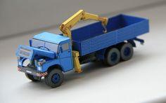 Tatra 148 Crane Truck Free Vehicle Paper Model Download