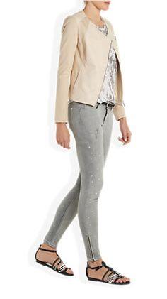 Leren Blazer Offwhitewit - Costes Fashion