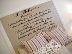 Love this quote! And the bed frame idea!!