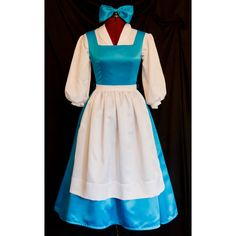 DELUXE Adult Blue BELLE Blue Provincial Costume CUSTOM Size ($300) via Polyvore featuring costumes  sc 1 st  Pinterest & Womenu0027s Fairytale Princess Elite Costume ($116) ? liked on Polyvore ...