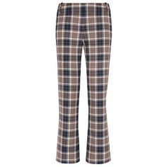 Tory Burch Garrett Straight-Leg Pant (€145) ❤ liked on Polyvore featuring pants, bottoms, plaid, milano tartan plaid, flat front pants, tartan plaid pants, tailored trousers, tailored pants and plaid trousers