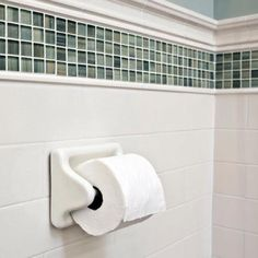 Match your tile perfectly with porcelain bathroom fixtures. Stop into The Tile Shop to find porcelain towel bars, soap dishes, shower shelves and toilet paper holders. White Bathroom Tiles, Tub Tile, Bathroom Tile Designs, Glass Mosaic Tiles, Bathroom Ideas, Small Condo Living, Wall Tiles Design, Tile Edge, The Tile Shop