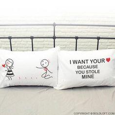 You Stole My heart™ Couple Pillowcase Set