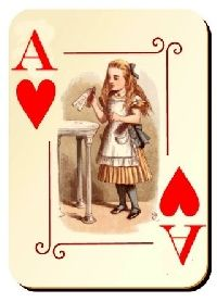 Alice In Wonderland ATC ~ Altered Playing Cards ~