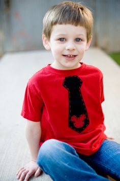 Mickey Mouse Necktie Shirt for Boys - Great for Disney World Vacation by mylittlelegacies