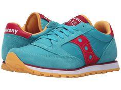 Saucony Originals Jazz Low Pro Sneaker nylon/suede peacock blue/red, blue grey/light blue sz7.5 55.00 3/16