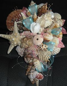 Sea shell Beach wedding bouquet