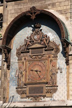 Tour de l'Horloge. The clock was installed in 1371 under the reign of Charles V and was the first public clock in Paris