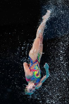 Ukraine compete during the Synchronized Swimming Team Free Final on day seven of the 15th FINA World Championships at Palau Sant Jordi on July 26, 2013 in Barcelona, Spain.