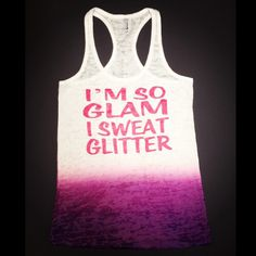Up in the gym just working on my FITNESS!! Glam/Glitter workout tank! Cute workout clothing by Abundant Heart Apparel